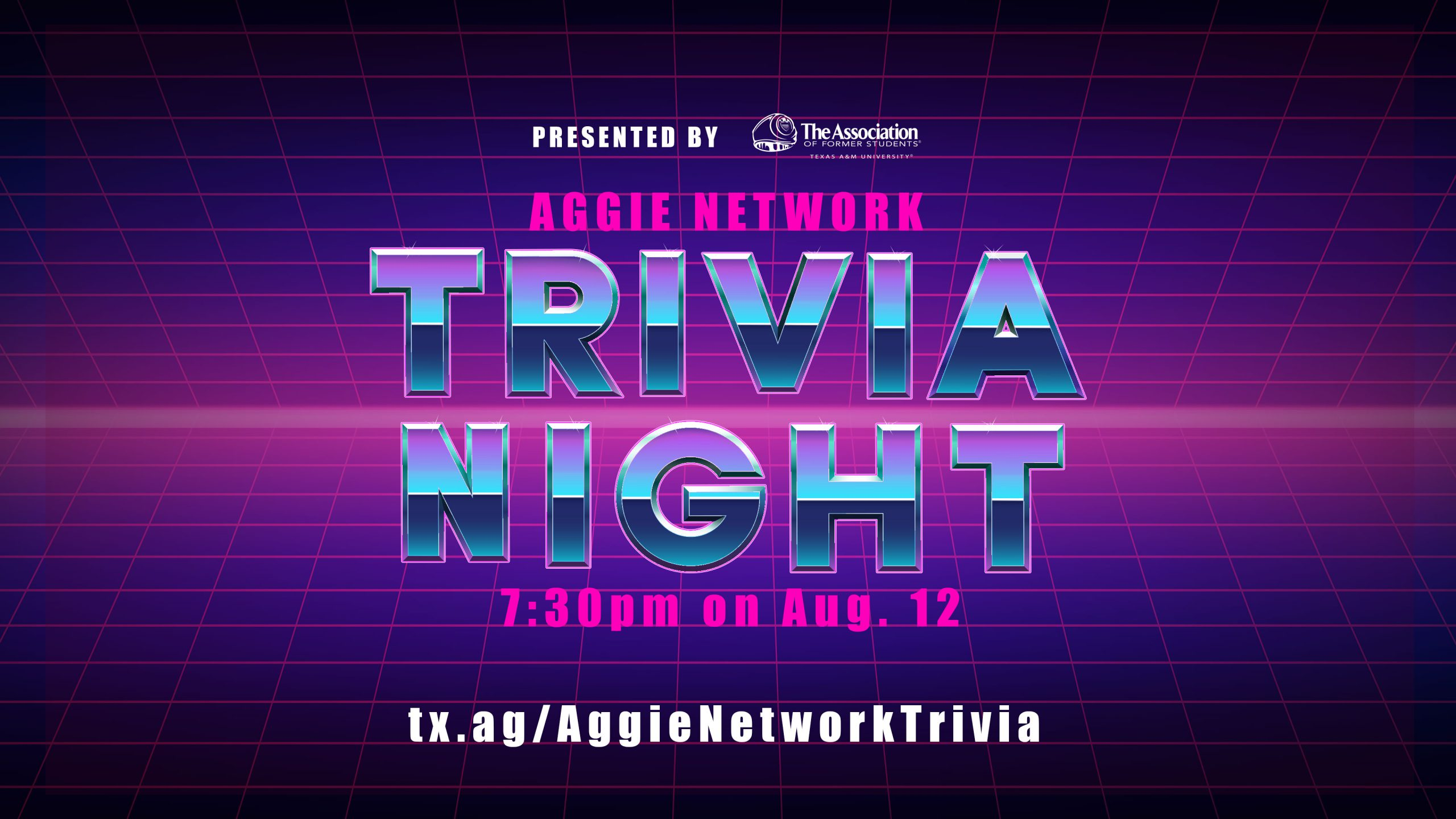 Aggie Network Trivia Night graphic